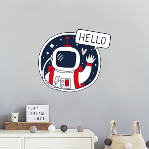 Spaceman Saying Hello Wall Art Sticker