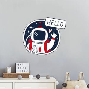 Spaceman Saying Hello Wall Art Sticker