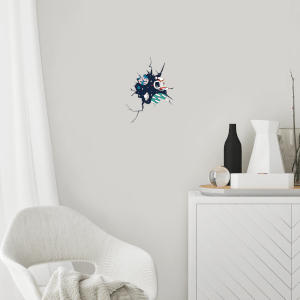 Spaceman In Cracked Wall Wall Art Sticker