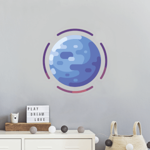 Blue Planet Wall Art Sticker