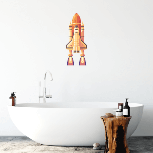 Rocket Wall Art Sticker