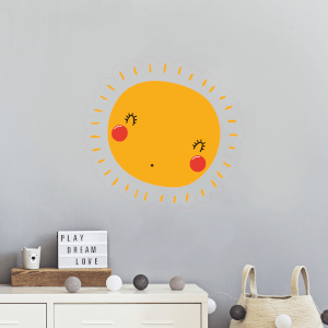 Sun With Face Wall Art Sticker