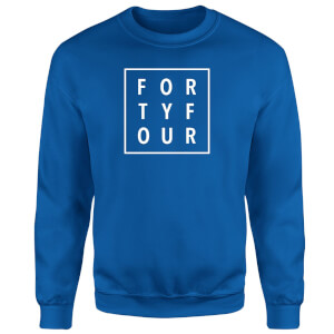 How Ridiculous Forty Four Square Sweatshirt - Royal Blue