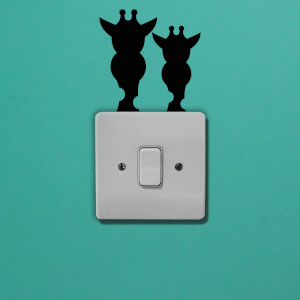 Giraffes Light Switch Art