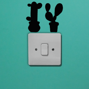 Cacti Light Switch Art