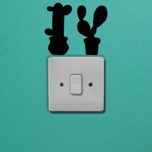 Cacti Light Switch Art