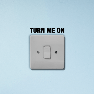 Turn Me On Light Switch Art