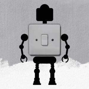 Robot Light Switch Art
