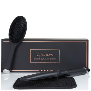 ghd Creative Curl Wand with Oval Brush, Box and Heat Mat Gift Set