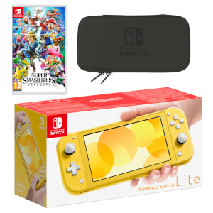 Nintendo Switch Lite (Yellow) Super Smash Bros. Ultimate Pack