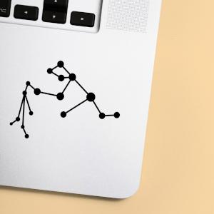 Aquarius Constellation Laptop Sticker