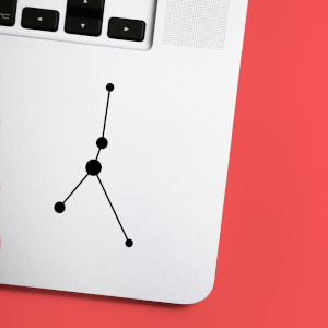 Cancer Constellation Laptop Sticker