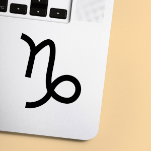 Capricorn Symbol Laptop Sticker
