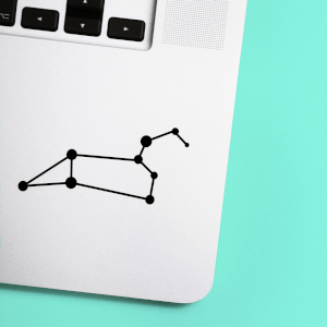 Leo Constellation Laptop Sticker