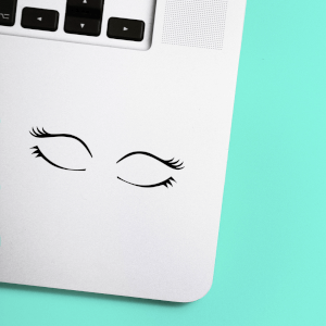 Closed Eyes Laptop Sticker