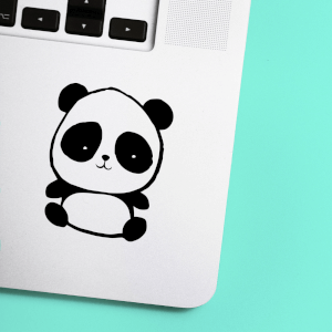 Cute Baby Panda Laptop Sticker