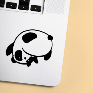 Flip & Flop Panda Laptop Sticker
