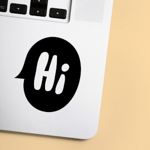 Hi Speech Bubble Laptop Sticker