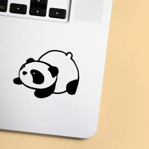Panda Bum Up Laptop Sticker