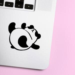 Panda Roly Poly Laptop Sticker
