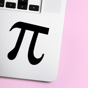 Mathematical Pi Symbol Laptop Sticker