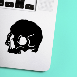 Half Skull Laptop Sticker