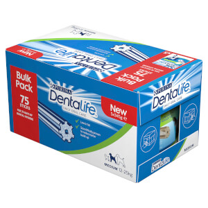 Dentalife Medium Dog Dental Chew 75 Stick Bulk Pack