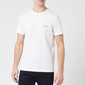 BOSS Hugo Boss Men's Curved Logo T-Shirt - Natural