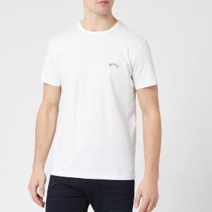 BOSS Men's Curved Logo T-Shirt - Natural