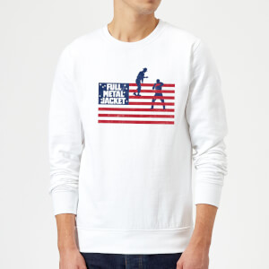Full Metal Jacket American Stripes Sweatshirt - White