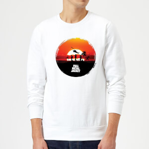 Full Metal Jacket Sunset Circle Sweatshirt - White