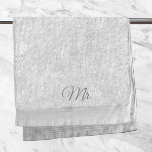 Mr Embroidered Hand Towel