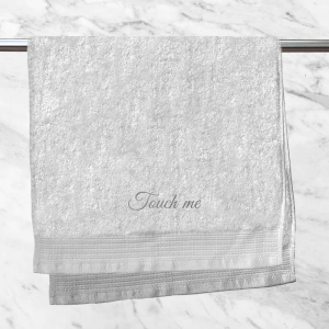 Touch Me Embroidered Hand Towel