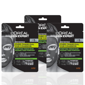 L'Oréal Paris Men Expert Pure Charcoal Face Mask x3 (Worth £11.97)