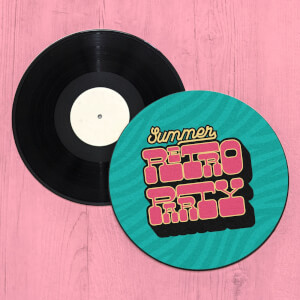 Summer Retro Party Record Player Slip Mat