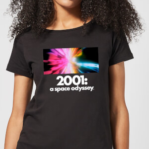 2001: A Space Odyssey Coloured Lights Women's T-Shirt - Black