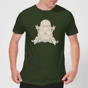 Crystal Maze Fast And Safe Crest Men's T-Shirt - Forest Green