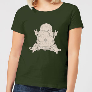 Crystal Maze Fast And Safe Crest Women's T-Shirt - Forest Green
