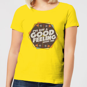 Crystal Maze I've Got A Good Feeling About This- Aztec Women's T-Shirt - Yellow