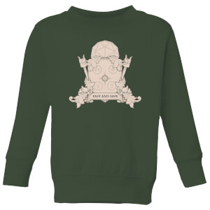 Crystal Maze Fast And Safe Crest Kids' Sweatshirt - Forest Green