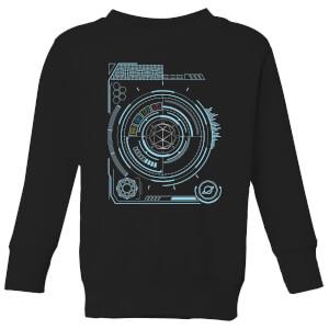 Crystal Maze Futuristic Crystal Kids' Sweatshirt - Black