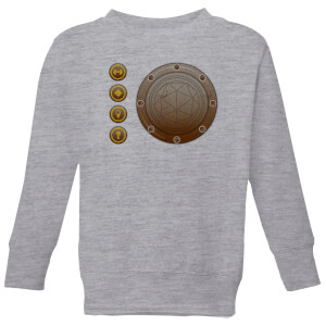 Crystal Maze Industrial Icons Kids' Sweatshirt - Grey