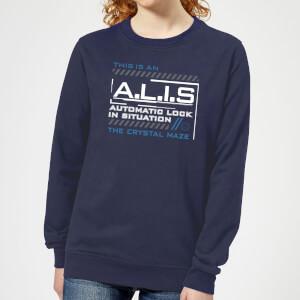 Crystal Maze A.L.I.S. Women's Sweatshirt - Navy