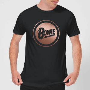 David Bowie Rose Gold Badge Men's T-Shirt - Black
