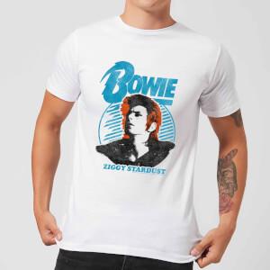 David Bowie Ziggy Stardust Orange Hair Men's T-Shirt - White