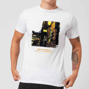 David Bowie Ziggy Stardust Men's T-Shirt - White