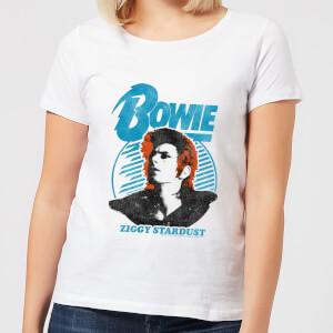 David Bowie Ziggy Stardust Orange Hair Women's T-Shirt - White