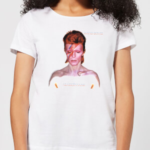 David Bowie Aladdin Sane Cover Women's T-Shirt - White