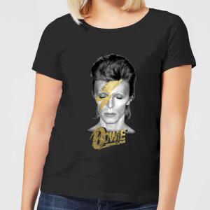 David Bowie Aladdin Sane On Black Women's T-Shirt - Black