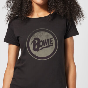 David Bowie Circle Logo Women's T-Shirt - Black